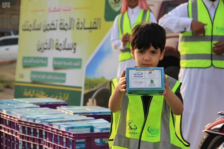 """اختتام مشروع """" #رمضان_أمان """" بالباحة بتوزيع أكثر من 8 الآف وجبة إفطار"""